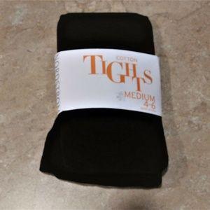 Nordstrom Kids Black Cotton Tights M 4 - 6